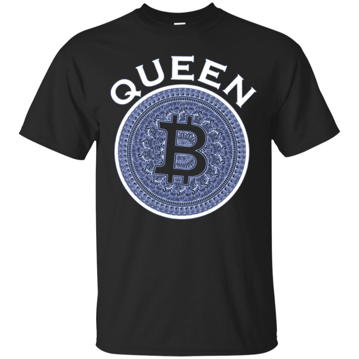 BitCoin Queen Long Sleeve Tee Shirt | Womens