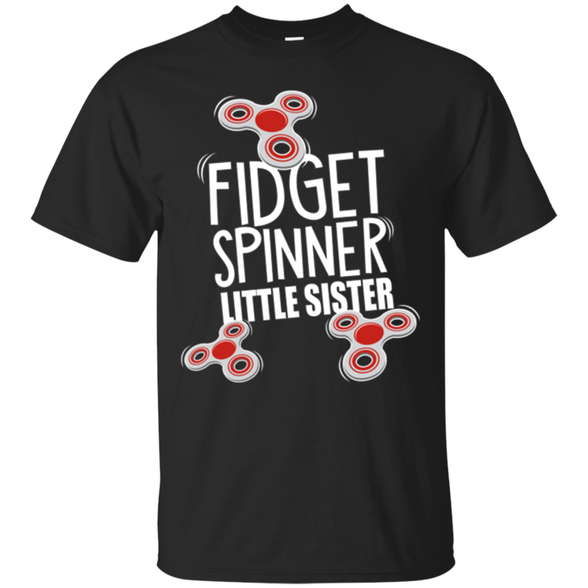 Kids Fidget Spinner Little Sister T-Shirt - Fidgeter Girls Tee