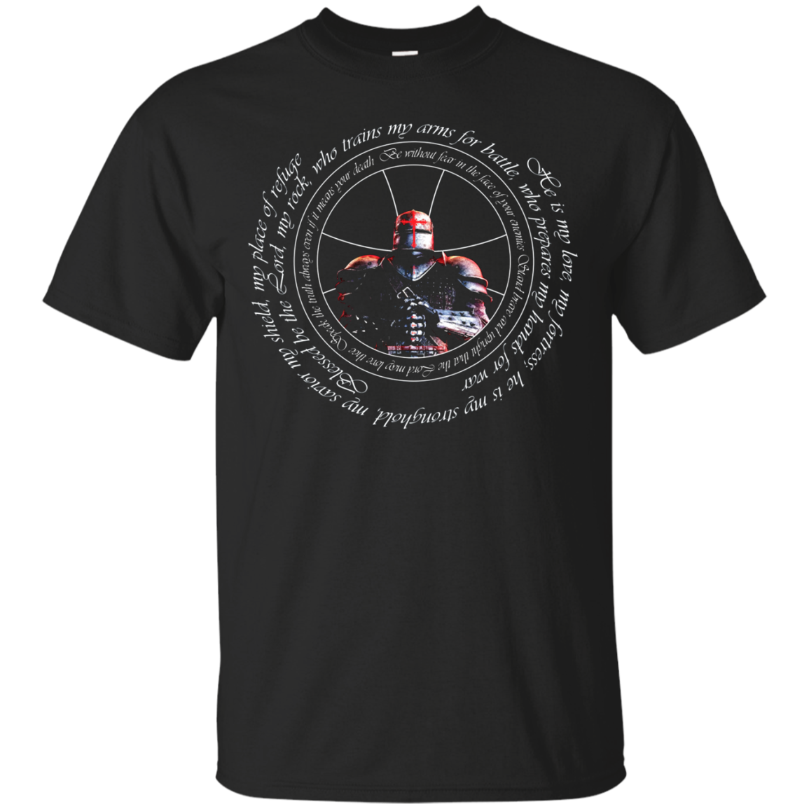 Knights Templar Oath And Prayer - The Crusader T Shirt