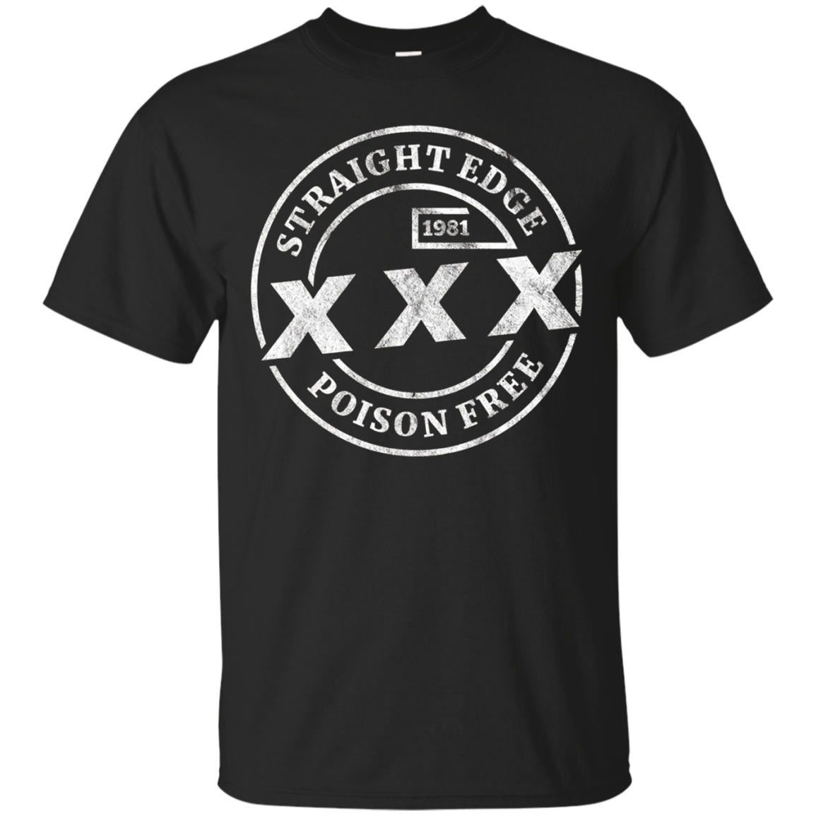 Straight Edge T-Shirt - XXX Poison Free