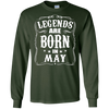 Image of Legends Are Born in May Birthday Gift Shirt Ideas 2017