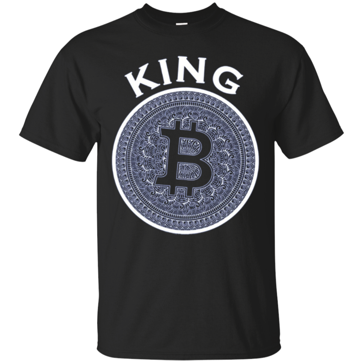 BitCoin King Long Sleeve Tee Shirt | Mens