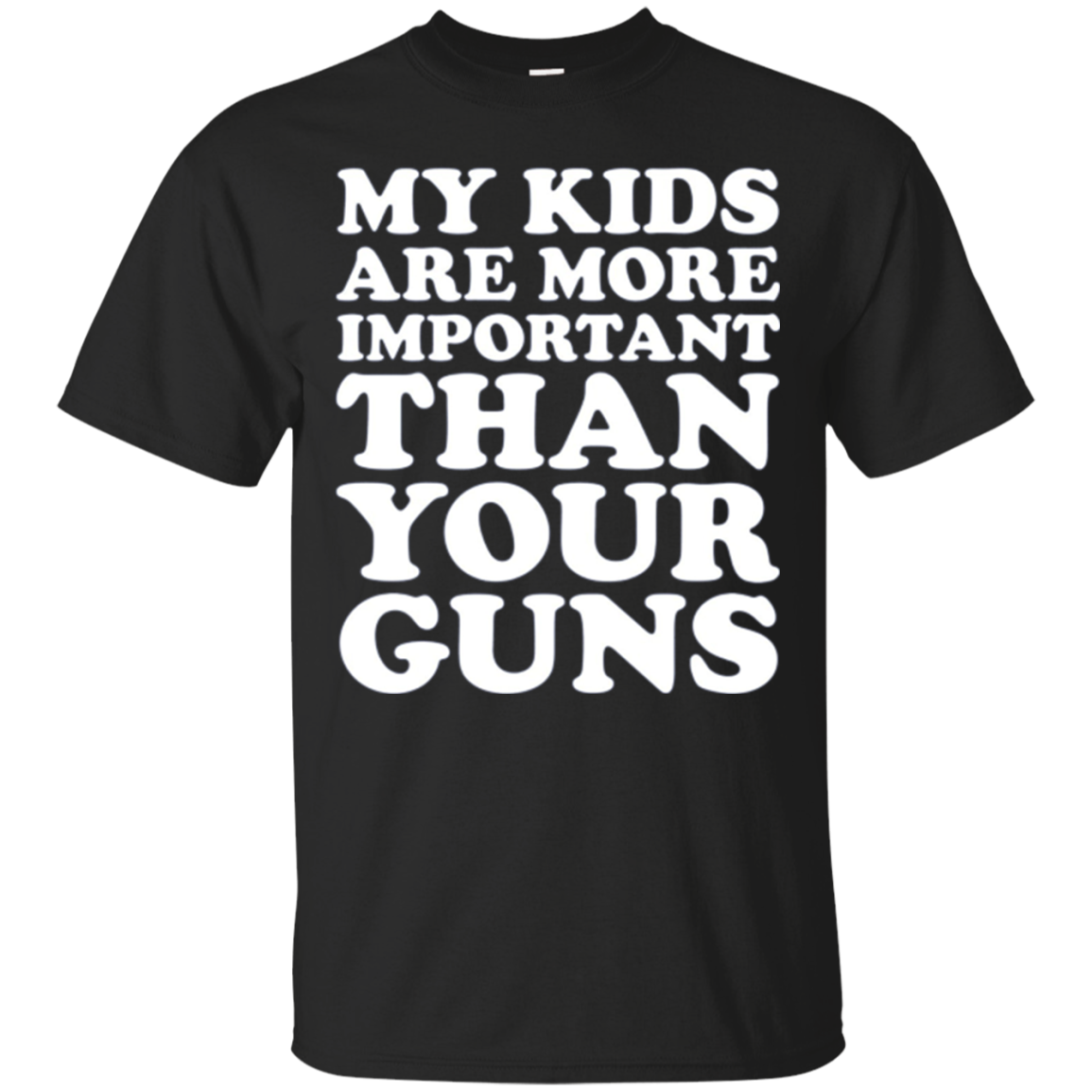 My Kids Are More Important than Your Guns Long Sleeve Shirt