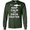 Image of Classic Keep Calm and Swim Faster Shark Swimming Swimmer