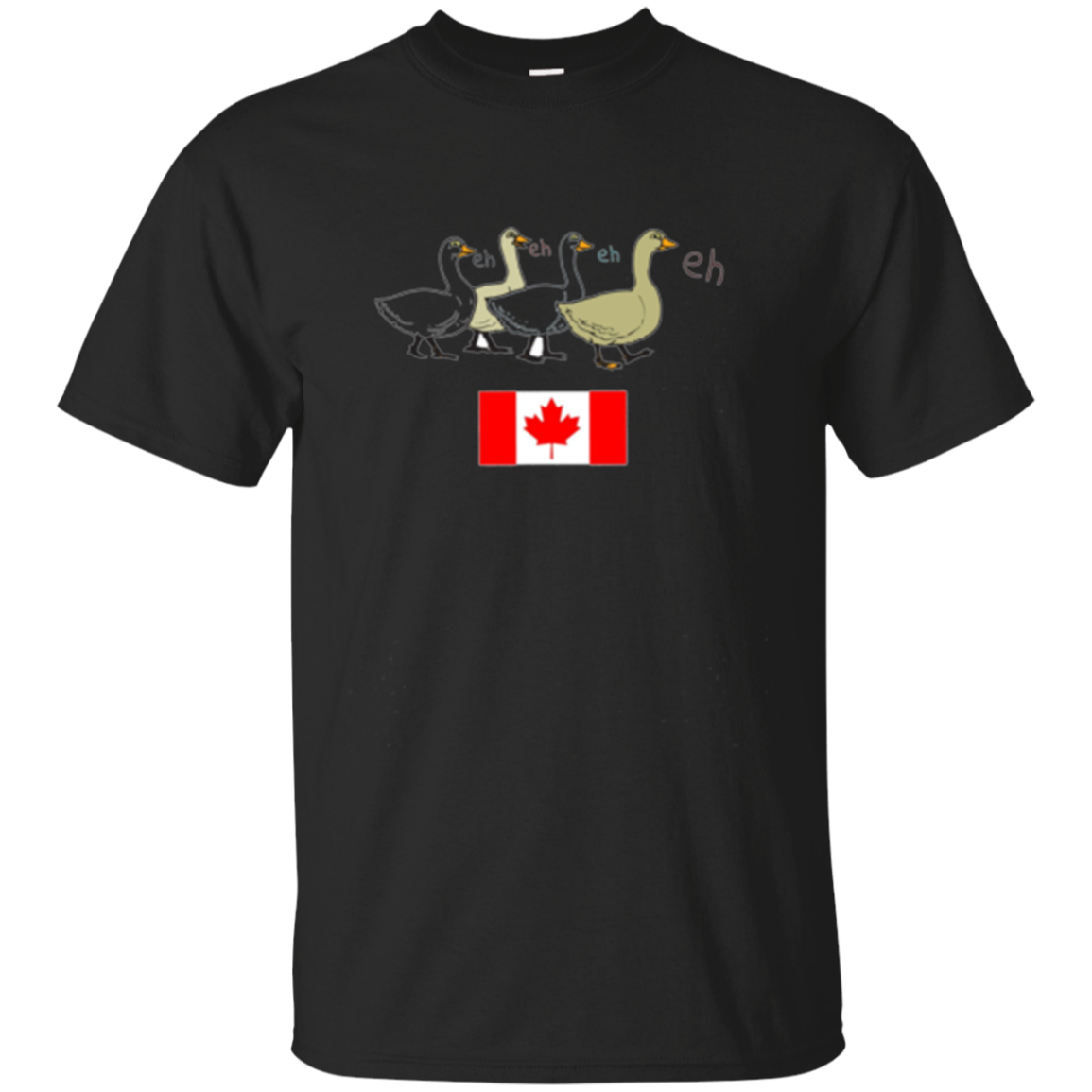 Funny Canadian Goose Eh With Canadian Flag T-Shirt
