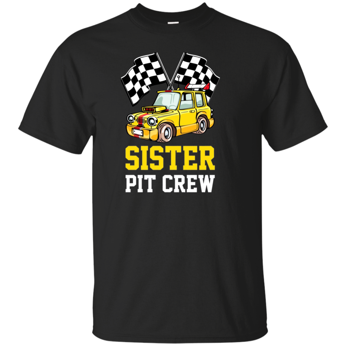 Pit Crew SISTER Back Print Long Sleeve T-Shirt Race