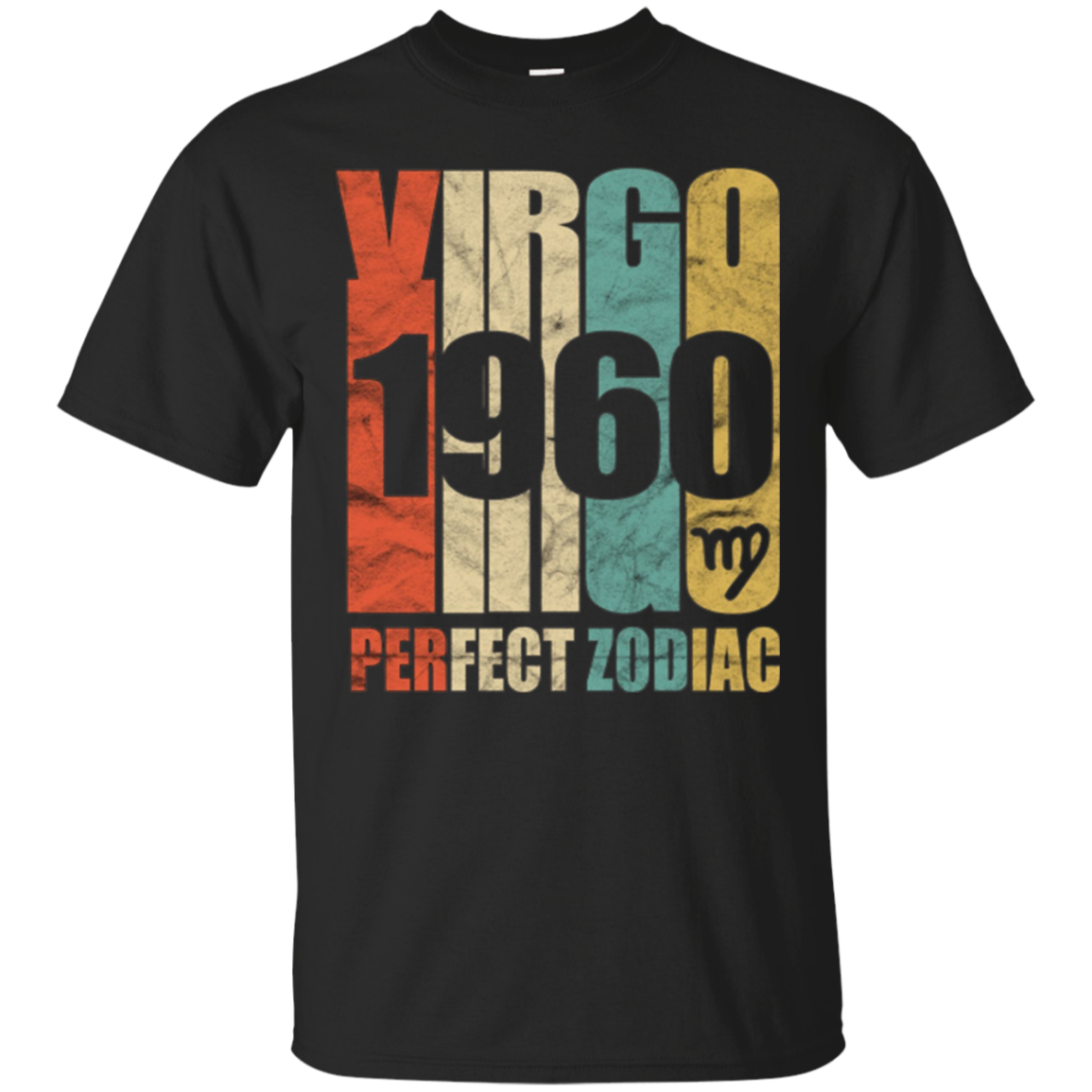 Vintage Virgo 1960 T-Shirt 57 yrs old Bday 57th Birthday Tee