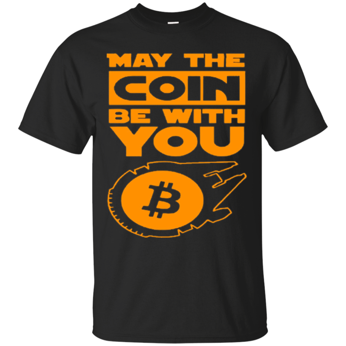 Bitcoin tshirt May the coin be with you bitcoin t-shirt