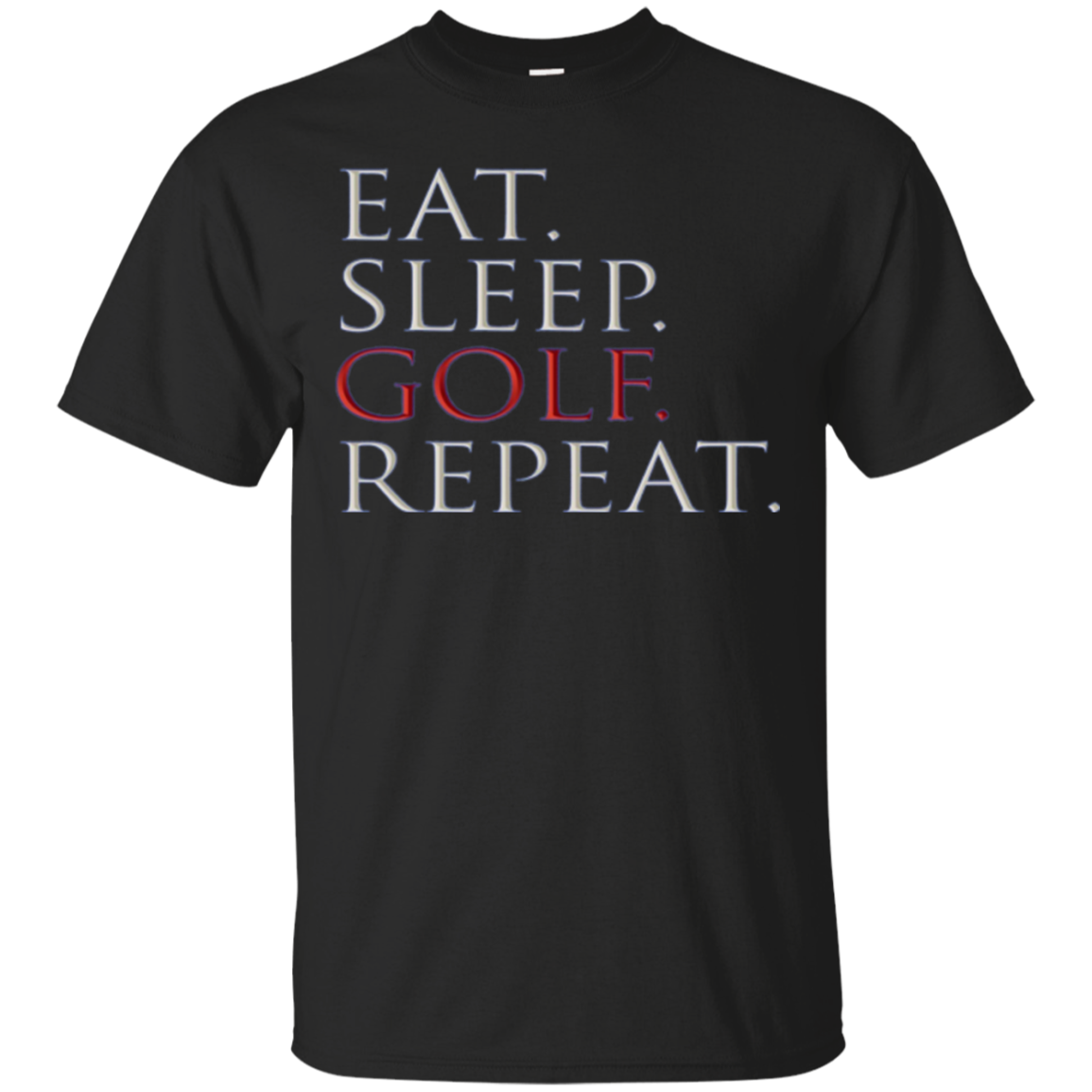 Eat Sleep Golf Repeat Long Sleeve T Shirt