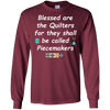 Image of Blessed Are The Quilters Quilter Gifts Apparel T-Shirt