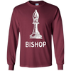 Image of Bishop Piece White Chess T-Shirt