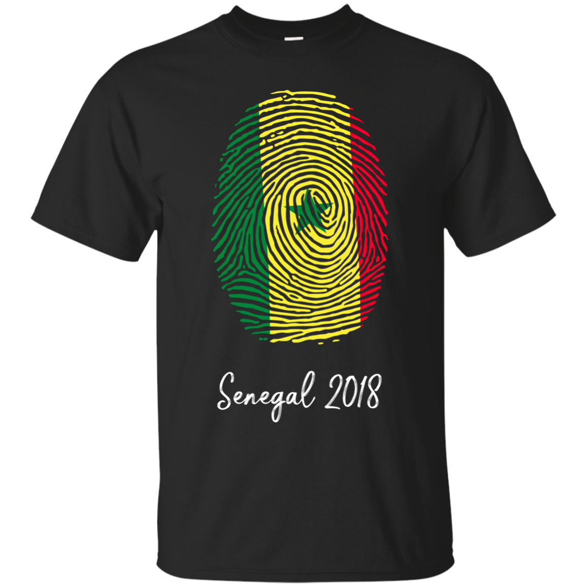 Senegal Shirt 2018 Thumbprint Soccer Flag Design