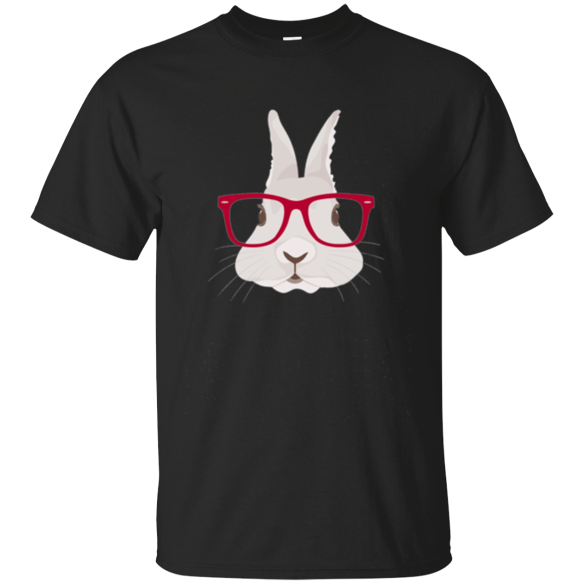 Hipster Bunny Rabbit Pink Glasses Funny Gift Long Sleeve Tee