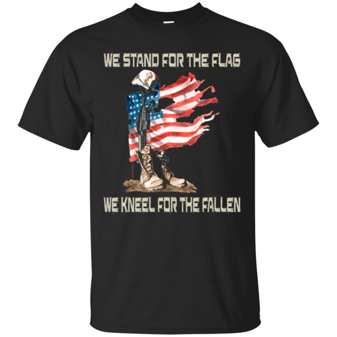 We Stand For The Flag We Kneel For The Fallen T-Shirt gift