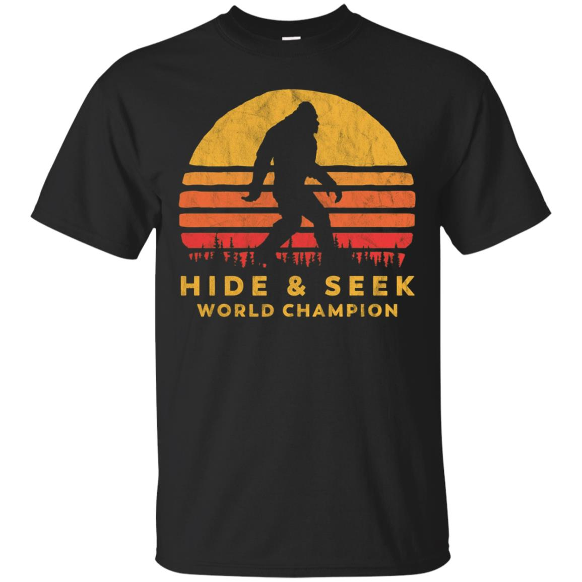 Retro Hide & Seek World Champ Bigfoot Sun Tee - Believe!