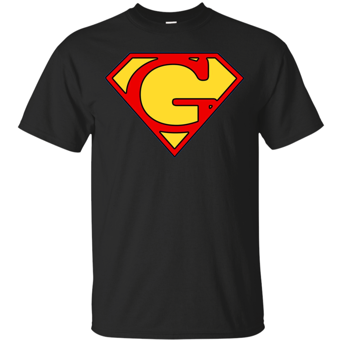 Letter G Super Man T-Shirt