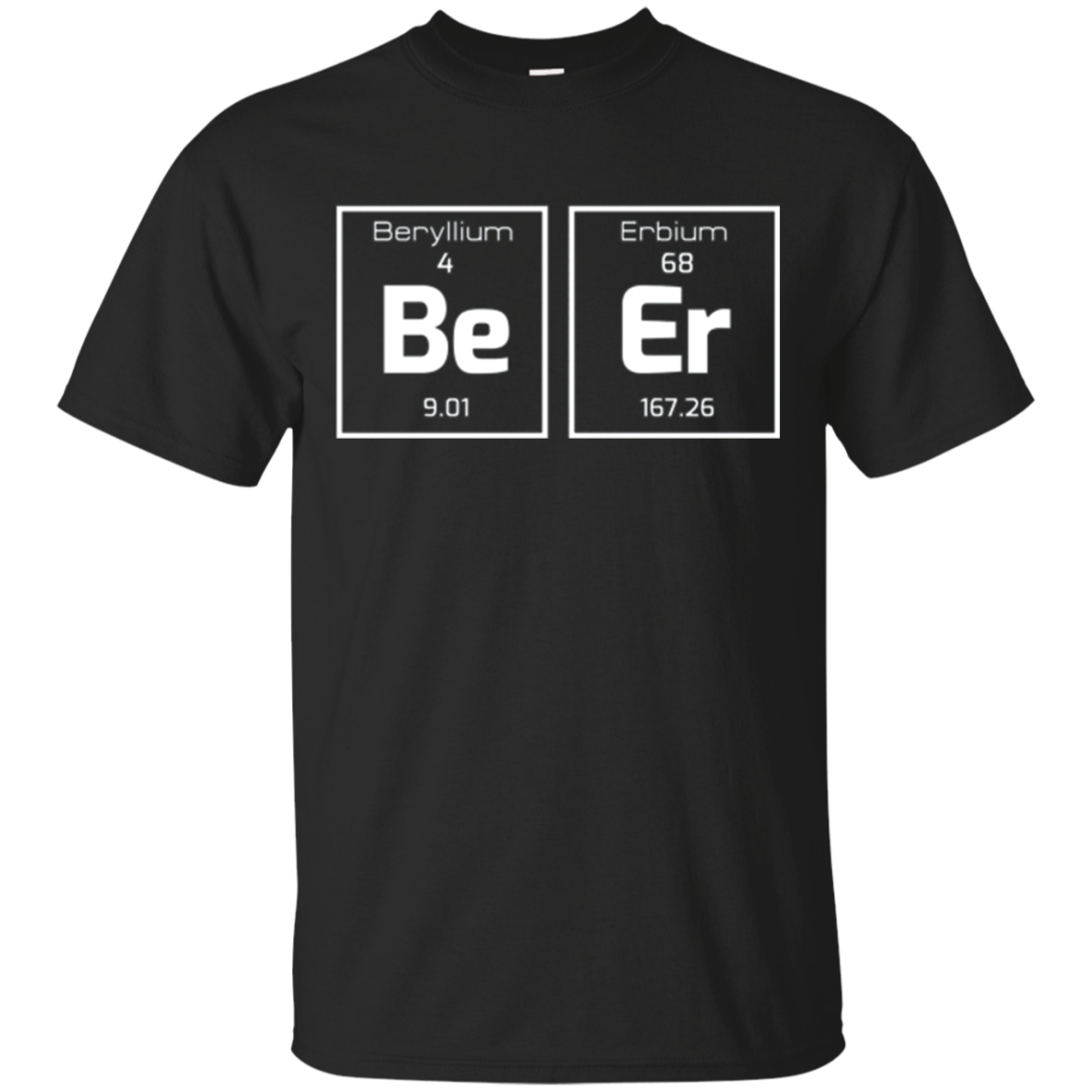 Funny Sarcastic Science Tshirt - Periodic Table Of Beer