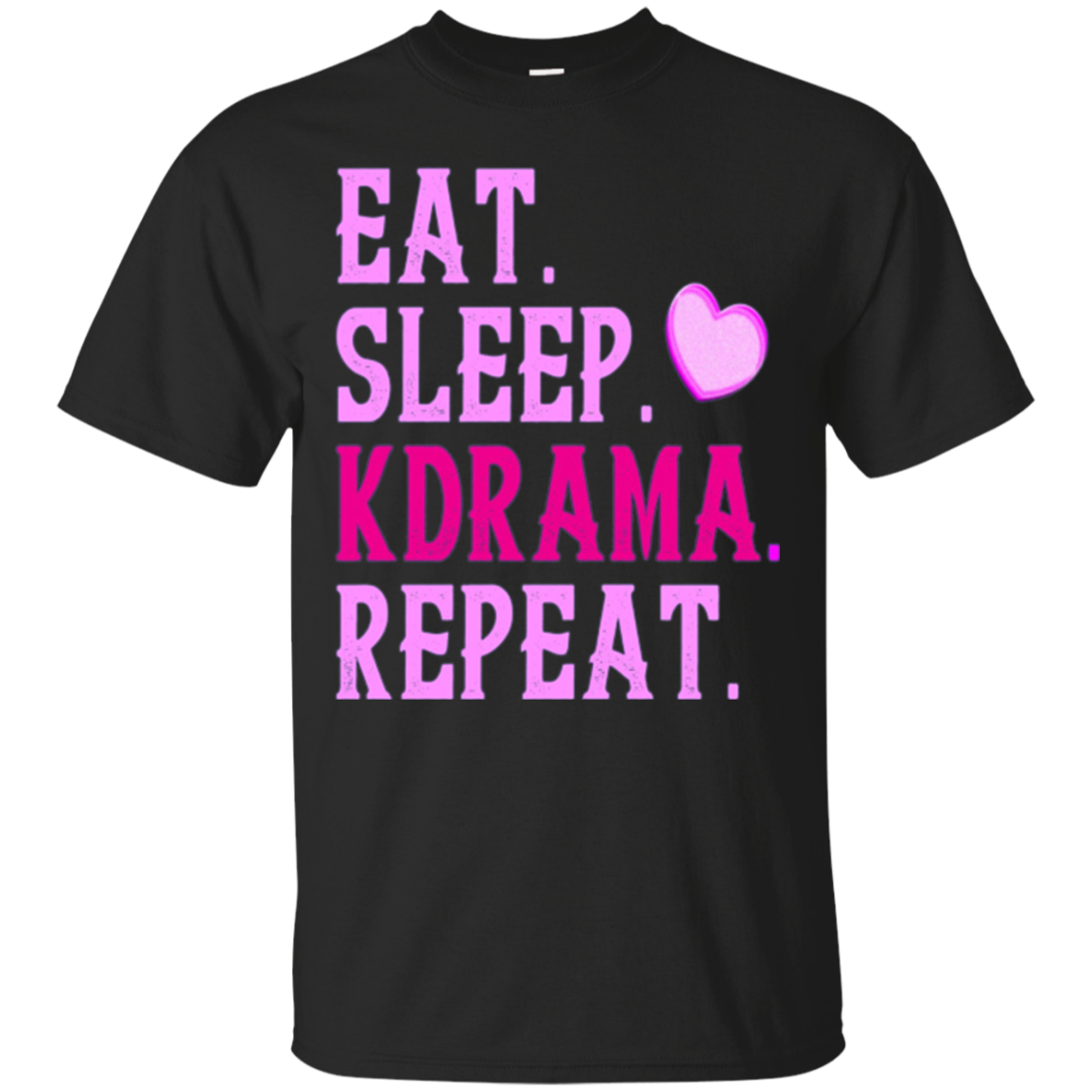 Korean Drama Fan Long Sleeve Shirt Eat Sleep Kdrama Repeat