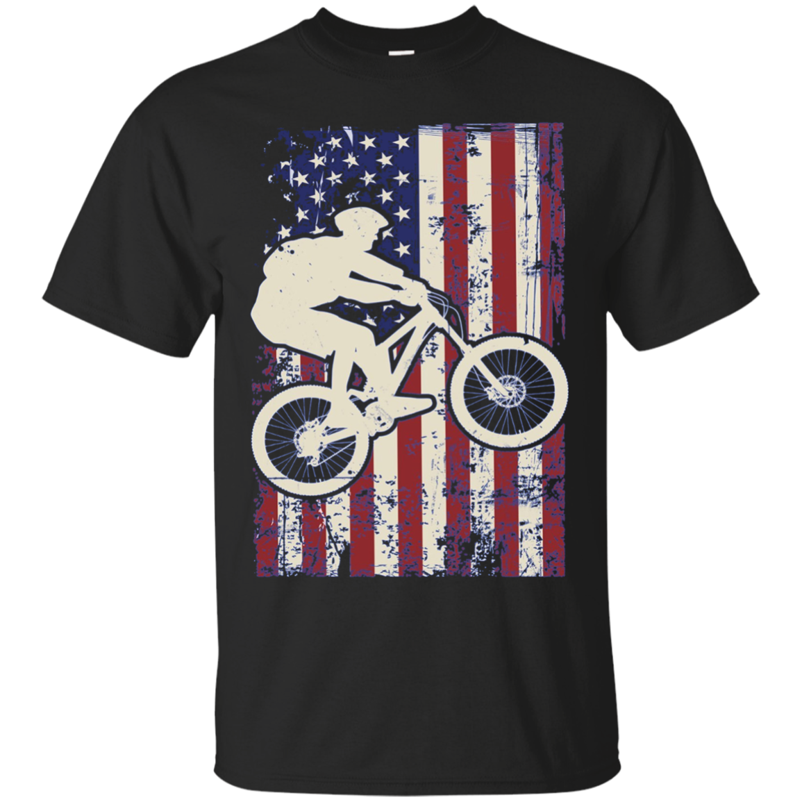 American Flag Mountain Biking Shirt Long Sleeve Bike Lover