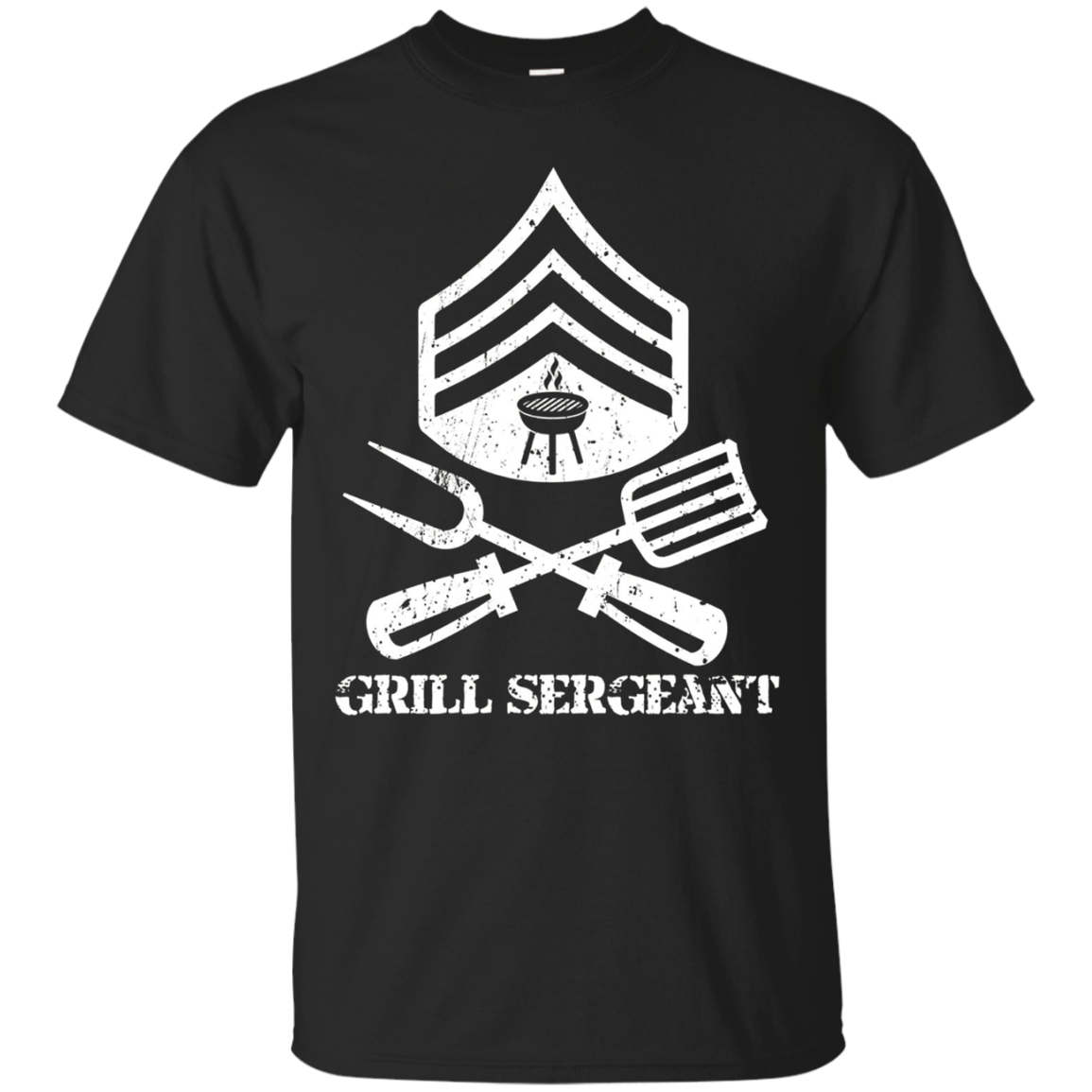 Mens Grill Sergeant BBQ Grilling Hobby Father's Day T-Shirt