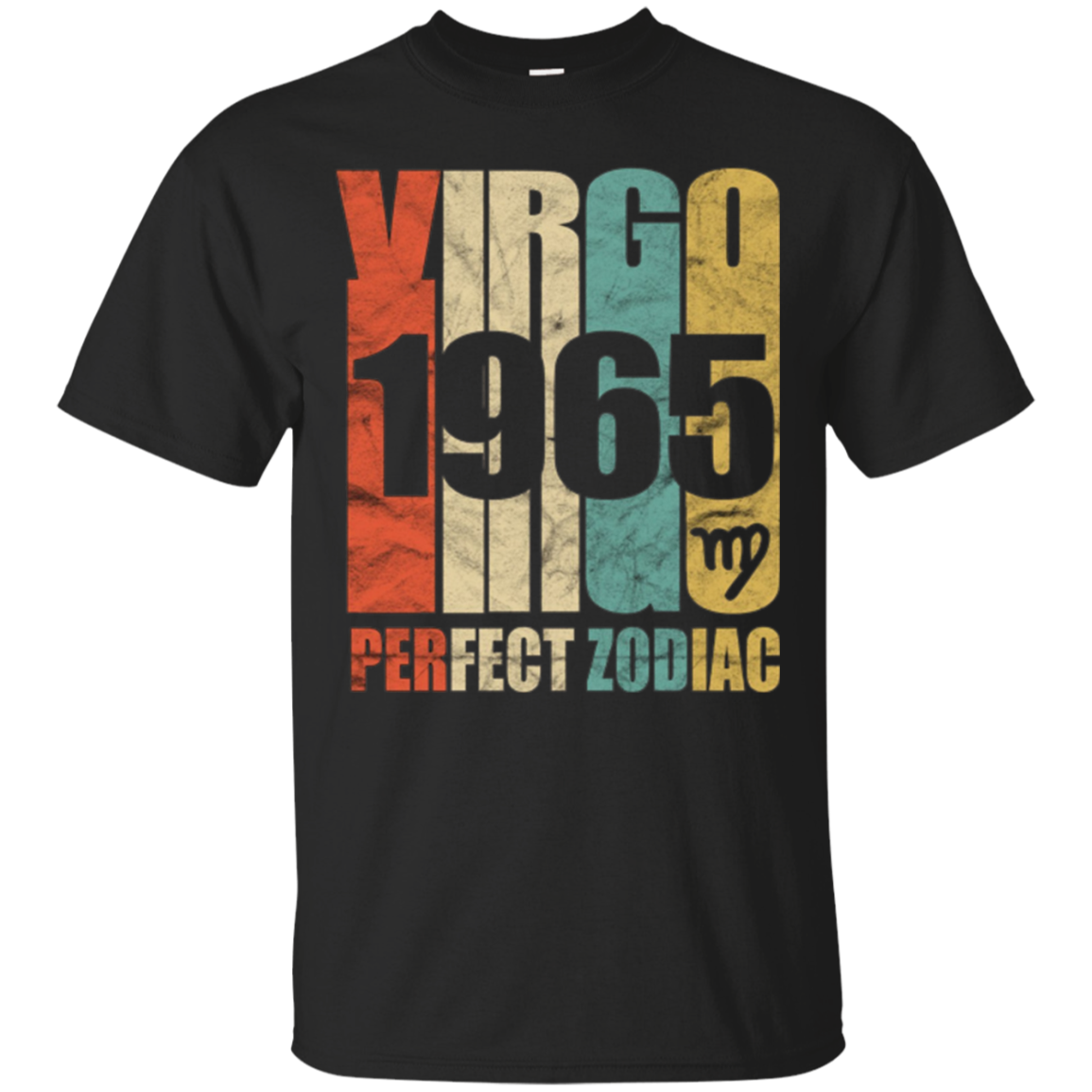 Vintage Virgo 1965 T-Shirt 52 yrs old Bday 52nd Birthday Tee