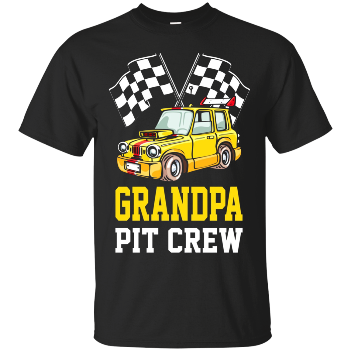 Pit Crew GRANDPA Back Print Long Sleeve T-Shirt Race Car