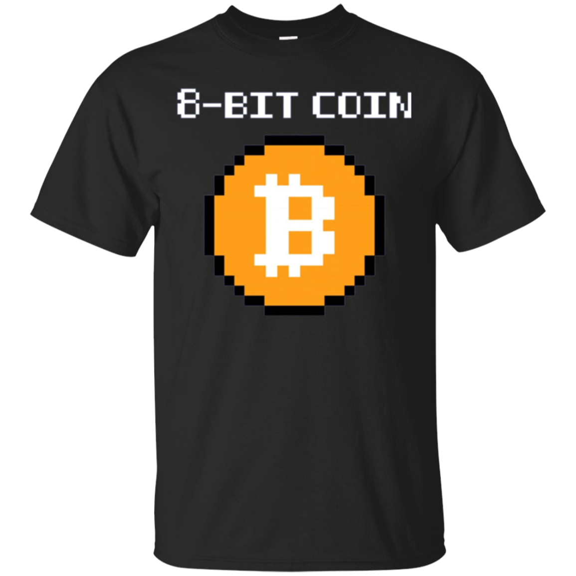 Retro Bitcoin 8-Bit Logo T-Shirt For Crypto Currency Traders