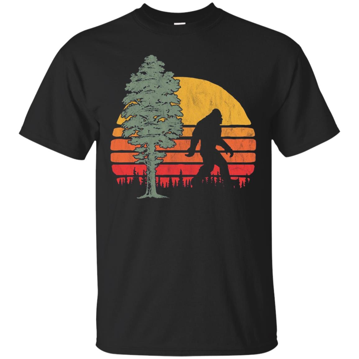 Retro Bigfoot Silhouette & Sequoia T-Shirt - Believe!