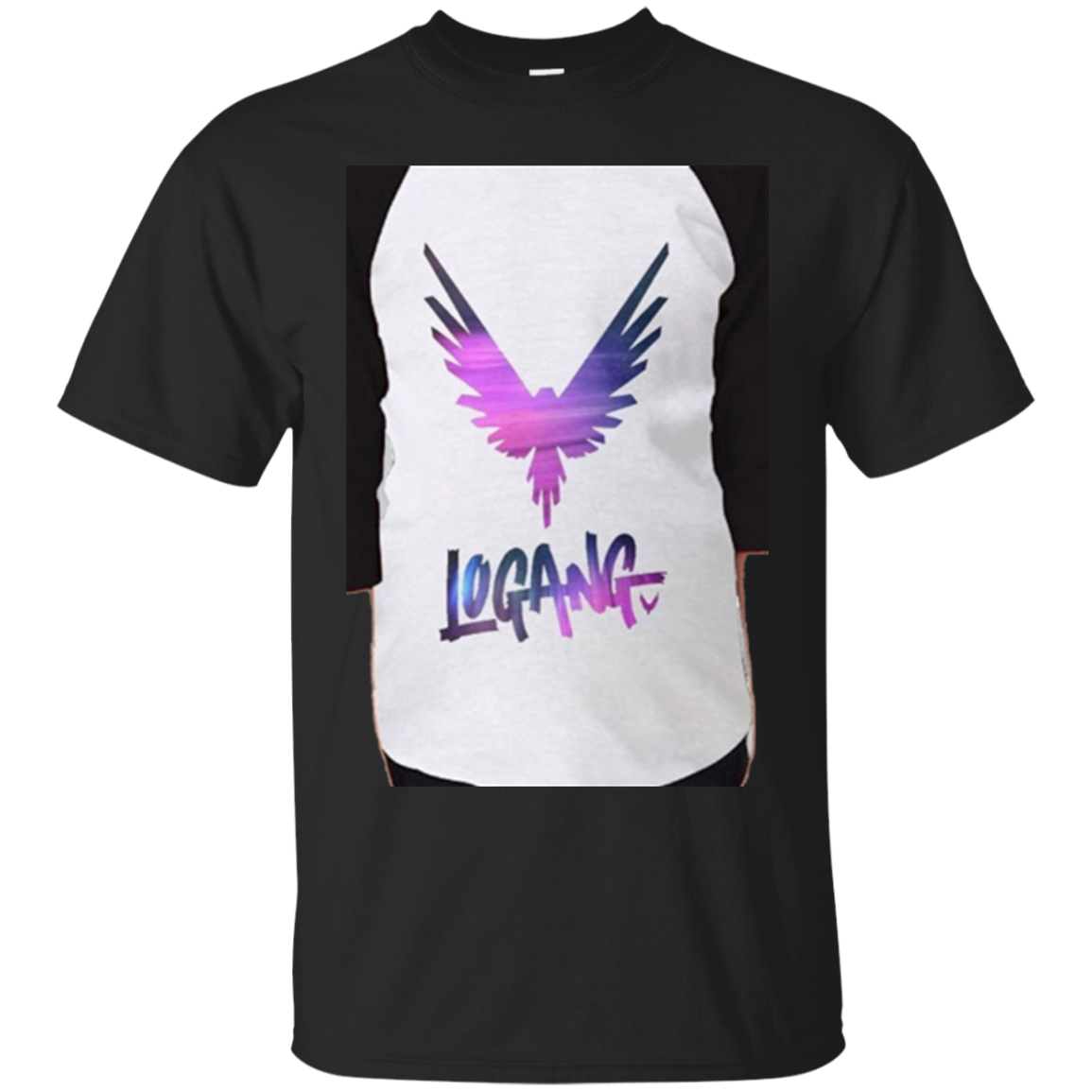 Logan Paul Logang Maverick Youth Raglan Tee Shirt