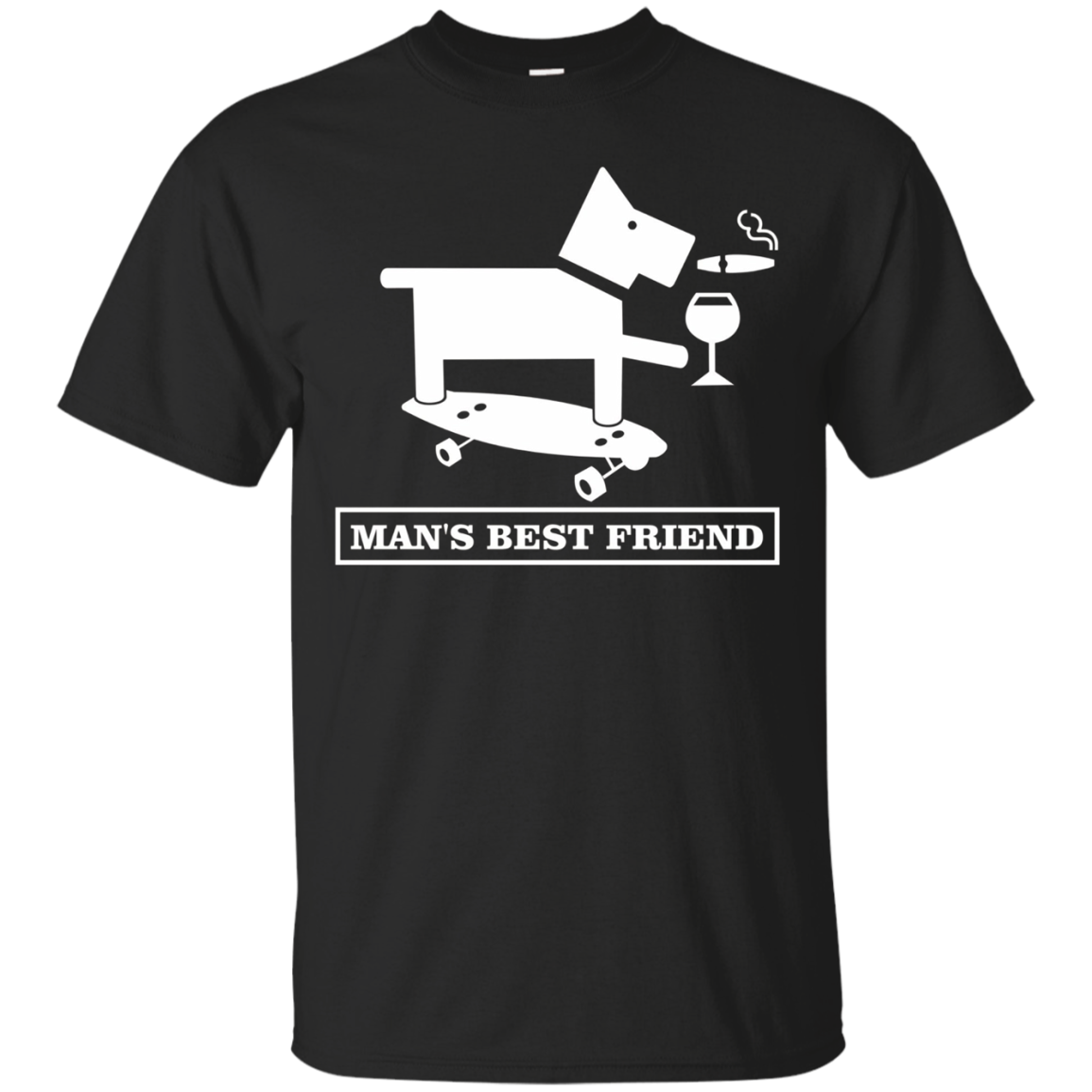 Clever Funny Tees: Man's Best Friend Dog Smoking Drinking
