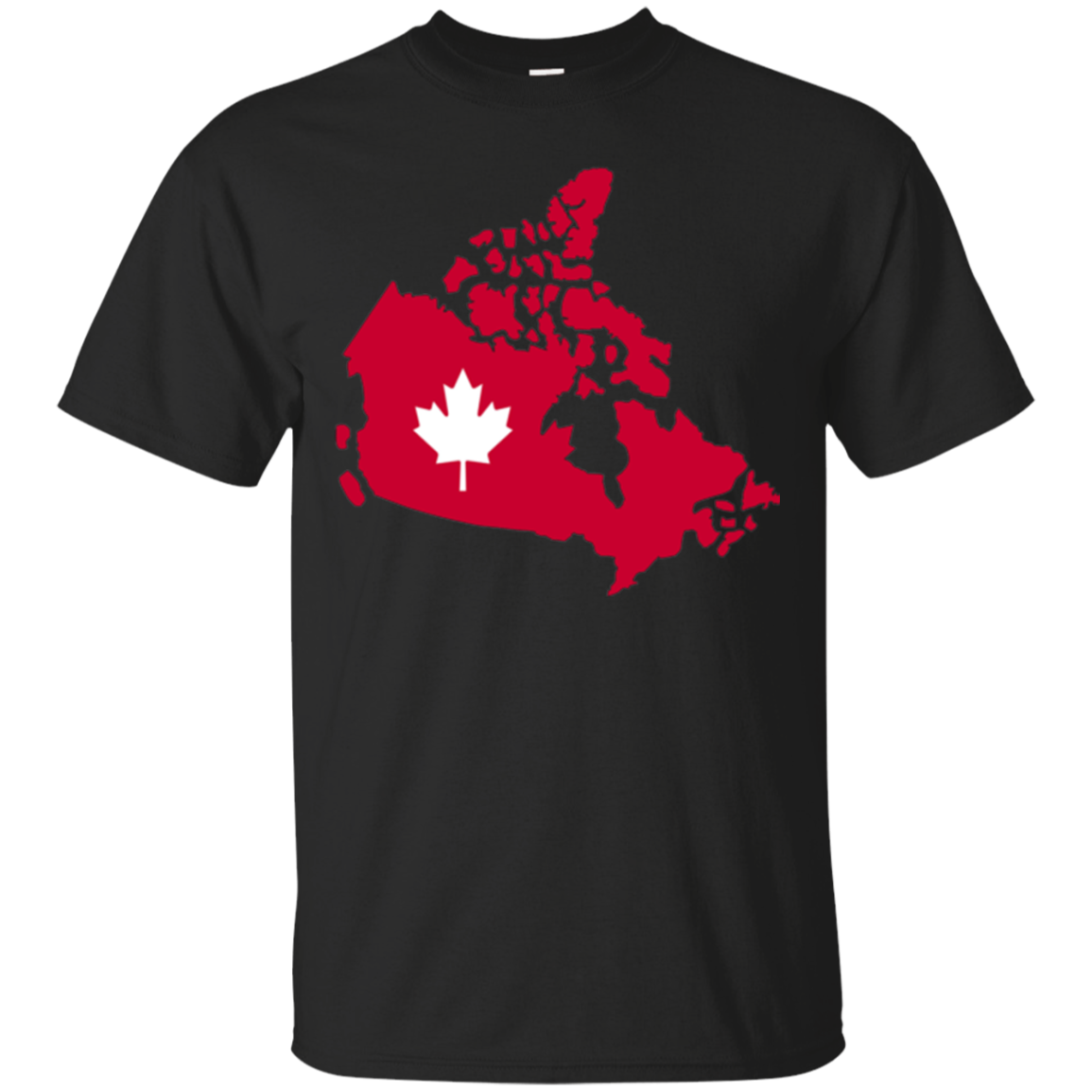 Red canada map with maple leaf T-Shirt