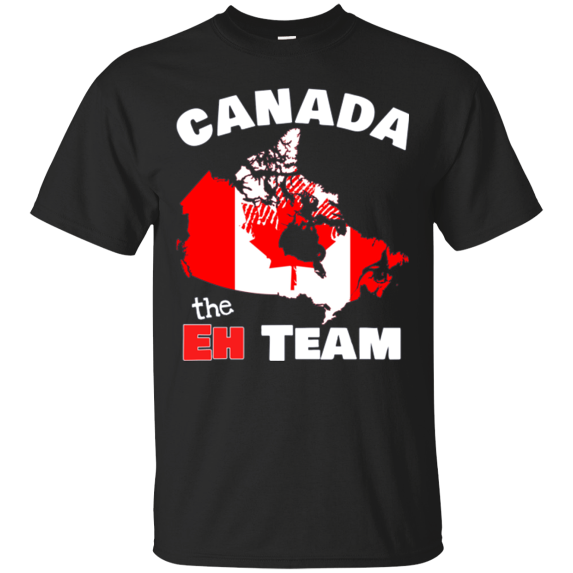 Canada The Eh Team Shirt Map Flag Proud Canadian T-Shirt