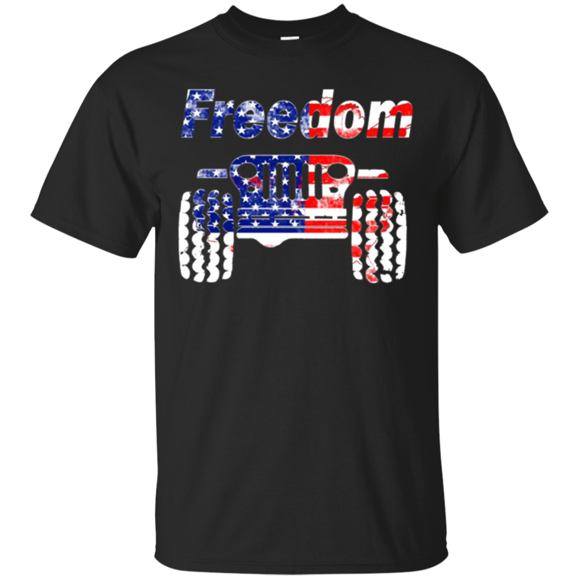 Freedom Jeep T Shirt USA Flag colors