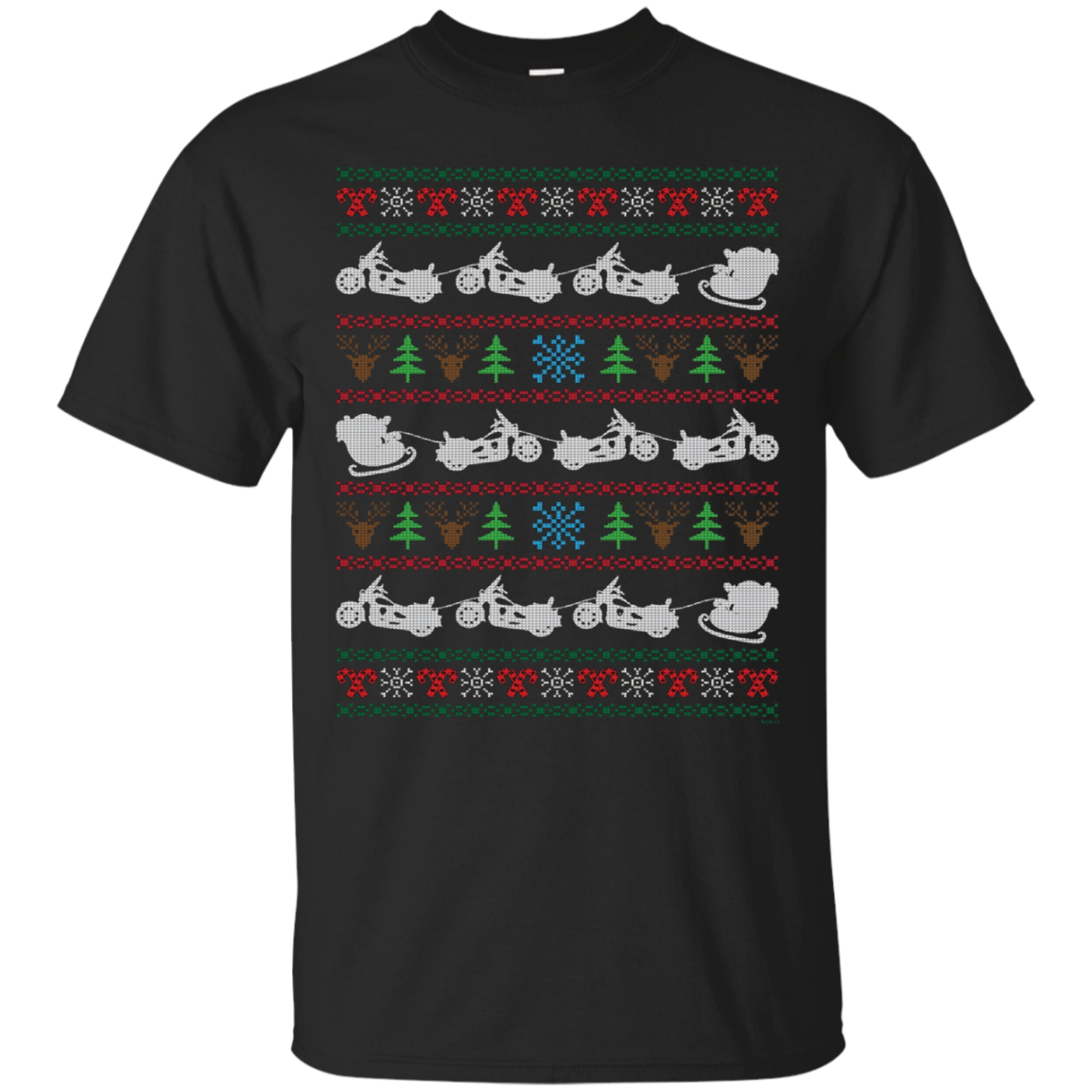 Motorcycle Ugly Christmas Sweater, Santa on Motorcycle Shirt