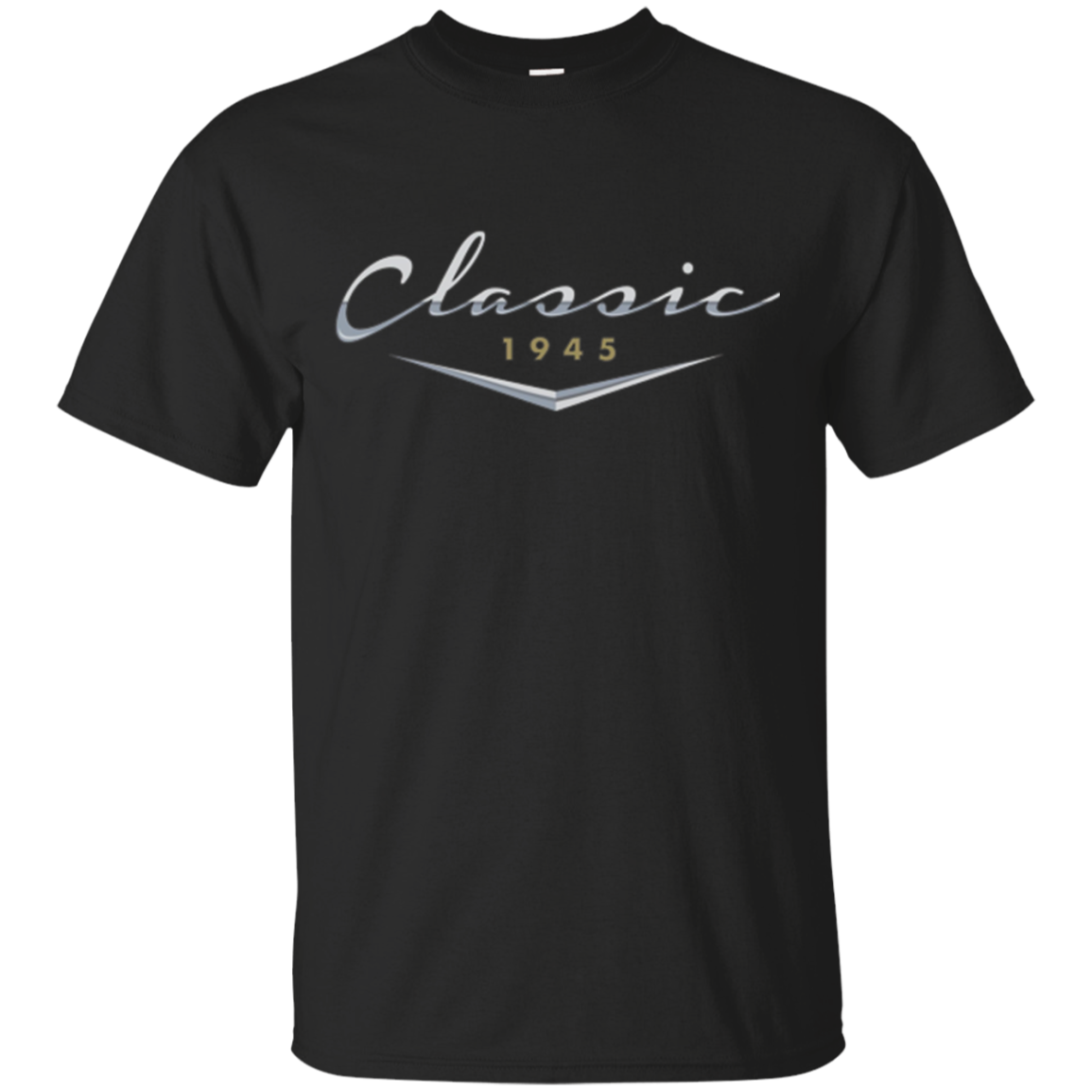 Mens Classic Car Vintage 1945 Birthday T Shirt Gift for Him, Dad