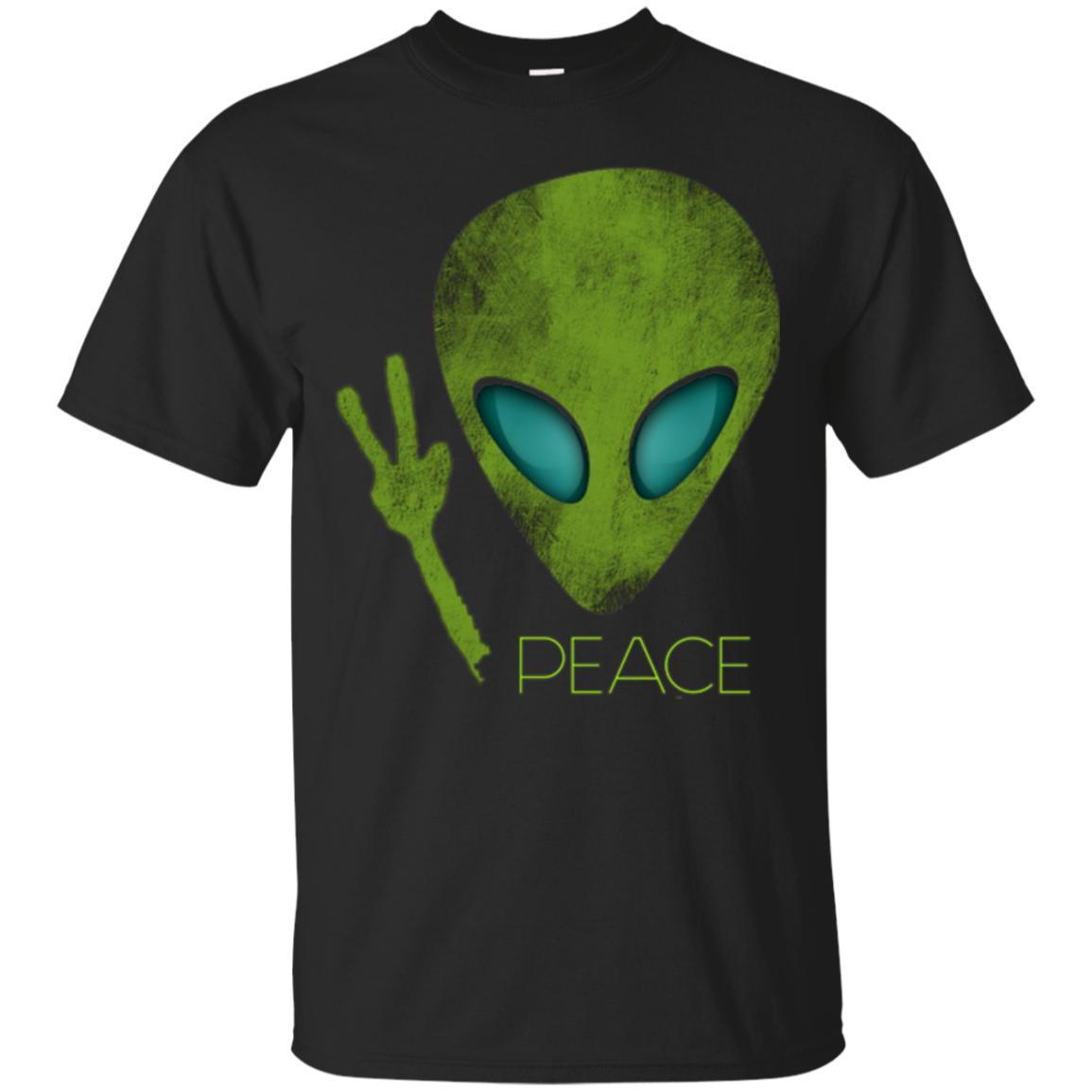 Alien Peace Cool Funny T-Shirt Cute UFO Lover Birthday Gift