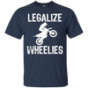 Image of Motorcycle T-shirt Legalize Wheelies Funny Biker Tee