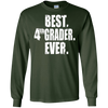 Image of Best 4th Grader Ever Back School Tee Fourth Grade Distressed