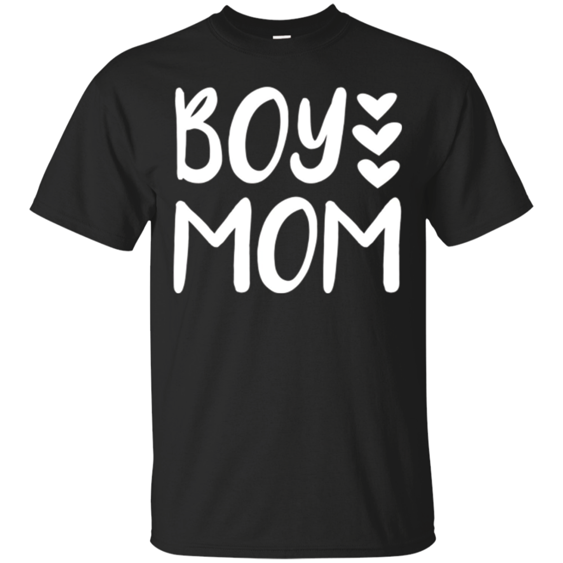 Boy Mom Love Hearts Cute T-Shirt for New Mothers of Baby Boy