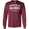 Image of Mens Promoted To Grandpa 2017 Tshirt Fathers Day Gifts For Grampa