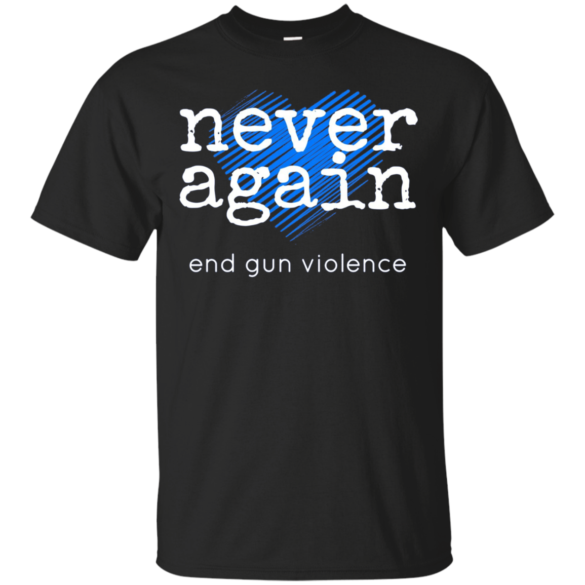 Never Again 2018 Long Sleeve Shirt - Blue Heart