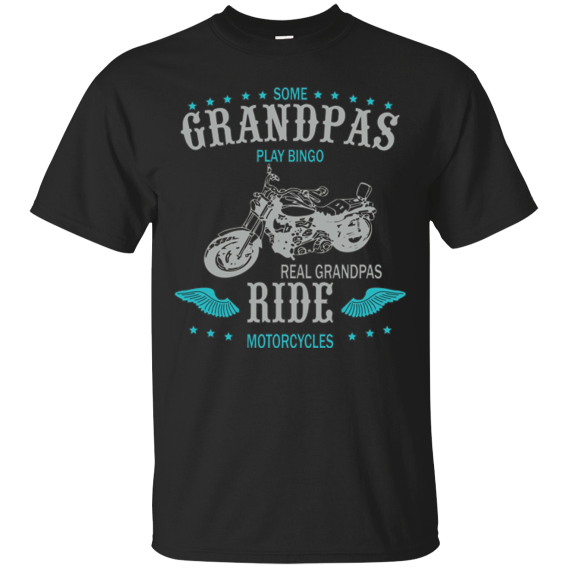 BIKER GRANPAS T SHIRT - Real grandpas ride motorcycles