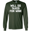 Image of Funny Accountant Shirt: Will Do Taxes For Wine T-Shirt CPA
