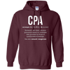 Image of CPA meaning Certified Public Accountant Gifts T-Shirt
