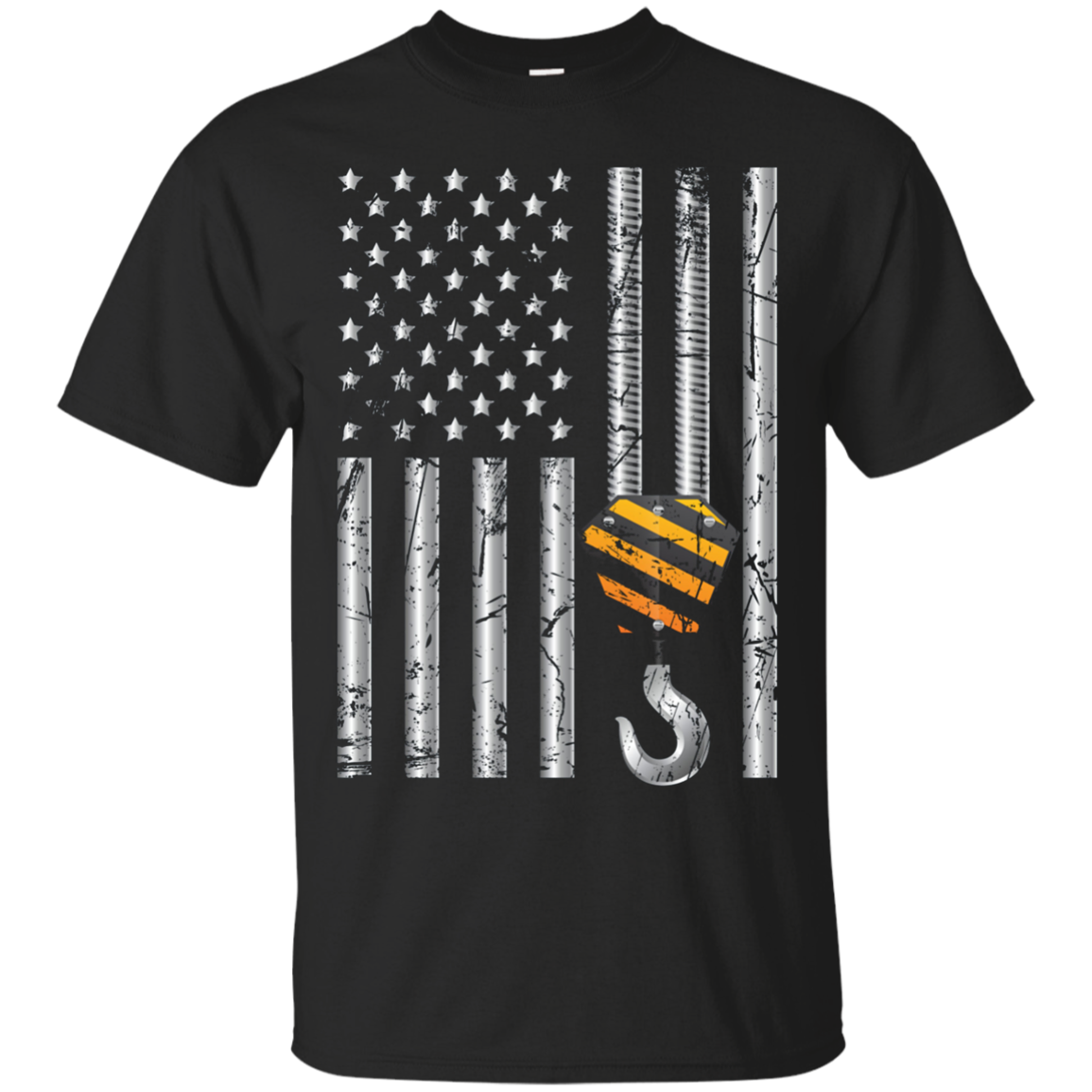 Crane Operator US Flag Shirt. Cranes Lover Graphic Art Gifts