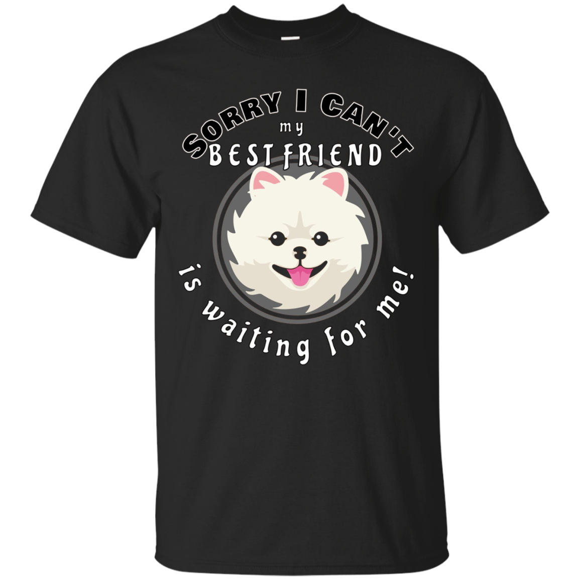My Best Friend a Pomeranian Dog is Waiting For Me T- Shirt
