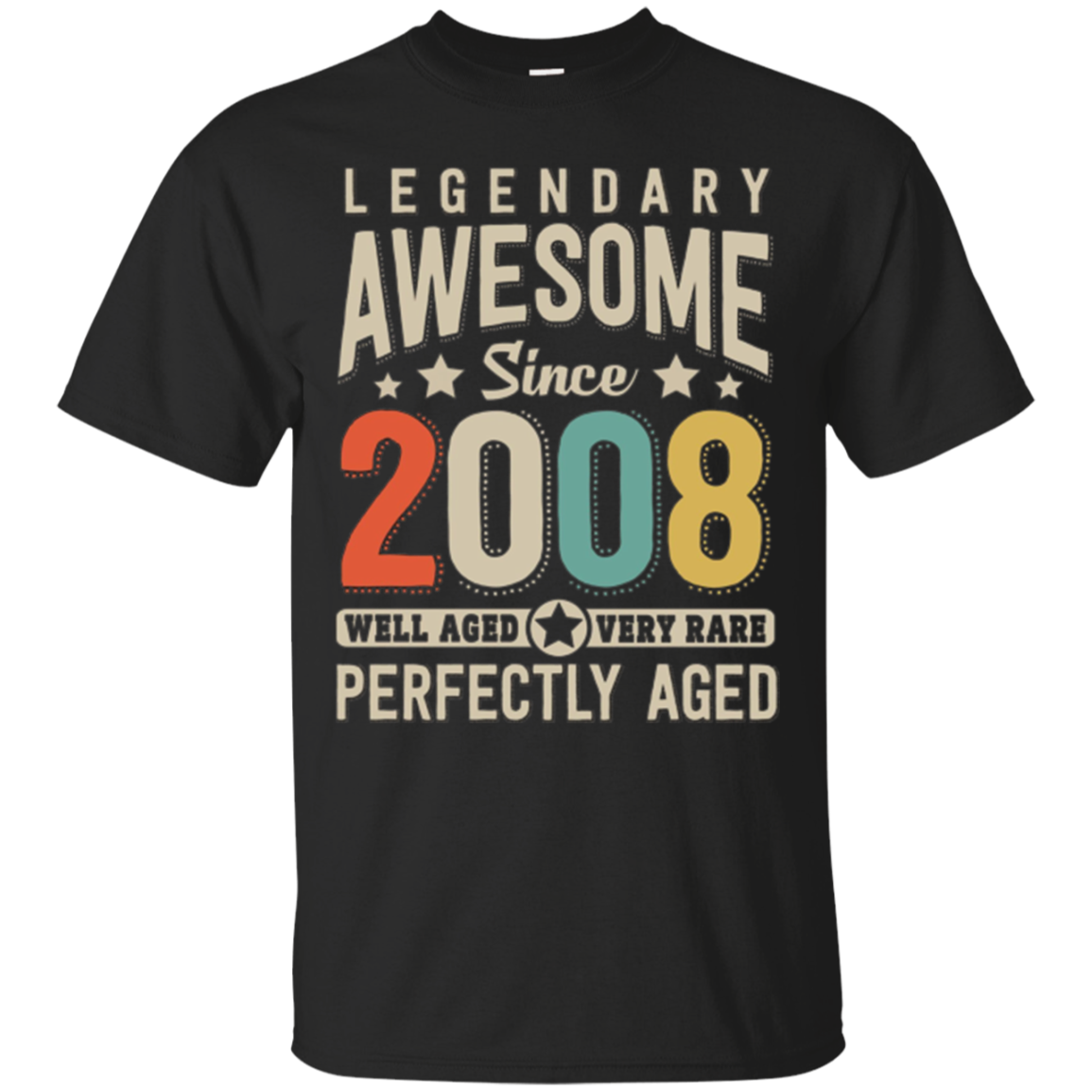 Awesome since 2008 10th Birthday T Shirt 10 Years Old