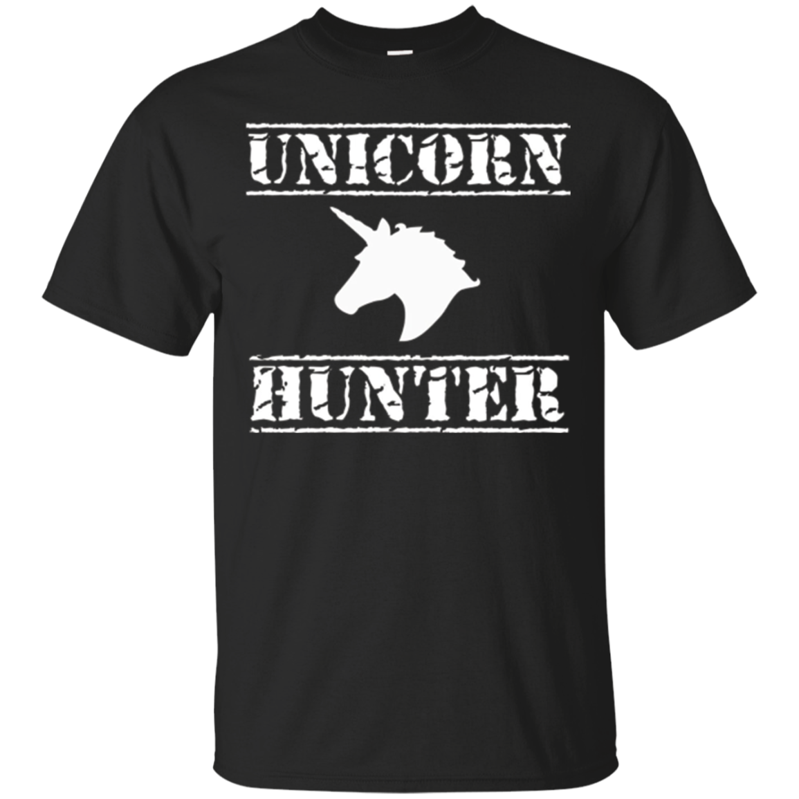 Unicorn Hunter T-Shirt, Mens Horse Humor Novelty