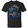 Image of The Great Wave of Pugs Funny T- Shirt by Huebucket
