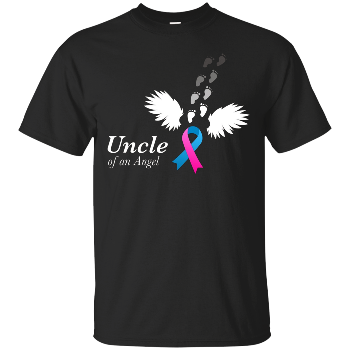 Angel Uncle T-Shirt. Miscarriage Awareness Infant Loss
